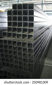 steel bar components in a construction