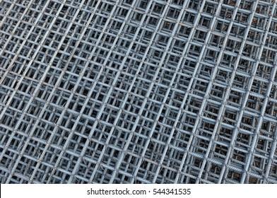 Steel bars reinforcement in construction site, Grid of Steel bars reinforcement texture