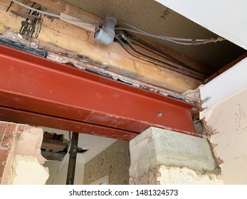 Steel Beam and Acrow Prop to building interior