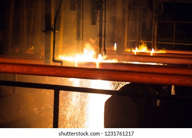 Steel Billets at Torch Cutting