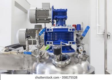 Steel boiler high pressure close up
