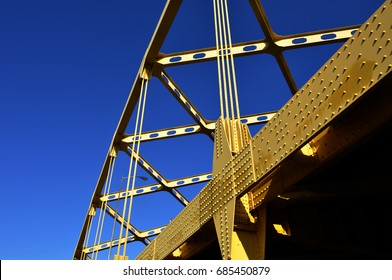 Steel bridge abstract.