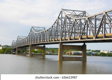 Steel Bridge Crossing Illinois River