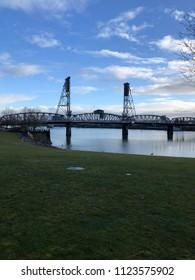 Steel bridge over Willamette River