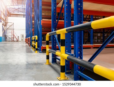 Steel bumper inside the warehouse. Prevent unsafe and dangerous operations. Bumpers do not provide forklifts and rack machinery. The steel bumper can prevent collisions in various places.