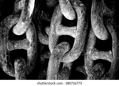 Steel Chain of the anchor