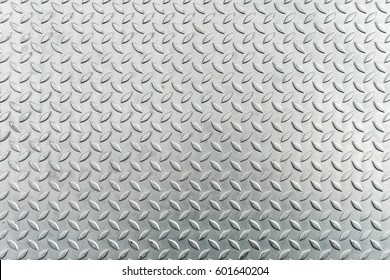 Steel Checkerplate Metal Sheet of Factory Flooring, Anti Skid Platform Floor for Engineering Materials. Metallic Sheet Surface Texture Background, Abstract Pattern Seamless of Checker Plate.