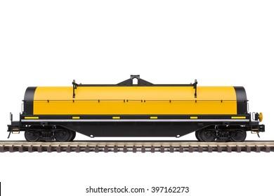 Steel Coil Railroad Car On Track