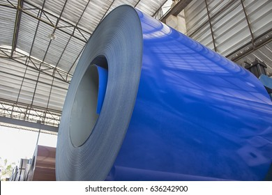 Steel Coils stock in warehouse for tile manufacturing