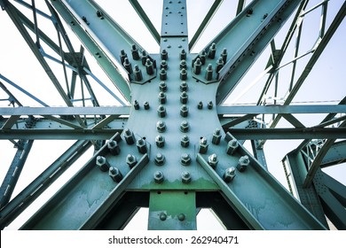 Steel construction of Mautern Brigde, Austria