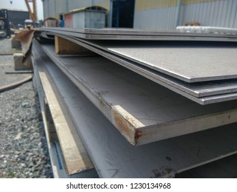 Steel construction is stacked on the outside.