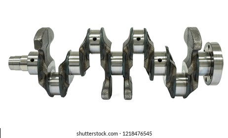 Steel crankshaft for a four-stroke internal combustion engine.