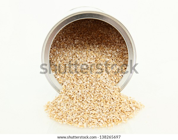 Steel Cut Oatmeal Spilling Out Of A Container