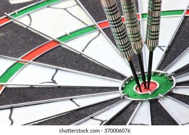 steel darts hit the mark