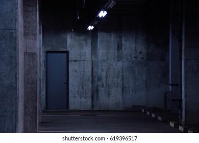 Steel door of underground facilities.
