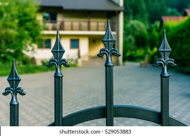 Steel fence of a house.