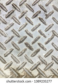 Steel flooring is used as a background image for beautiful, durable.