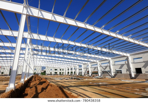 Steel Girder Truss Factory Stock Photo (Edit Now) 780438358