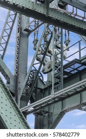 Steel Girders and Pulleys of Draw Bridge