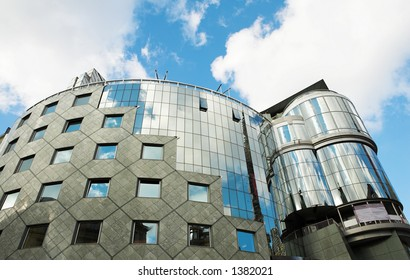 Steel and Glass building in Vienna, Austria - Blue Sky