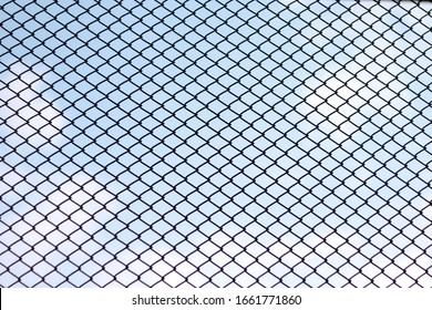 Steel grating texture background. wire wall.