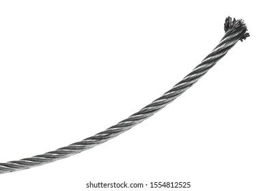 Steel hawser broken isolated on white background
