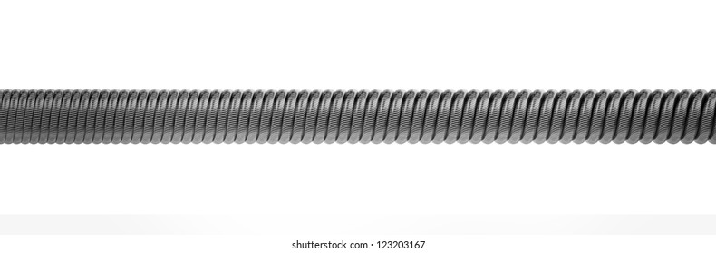 steel hawser closeup isolated on a white background