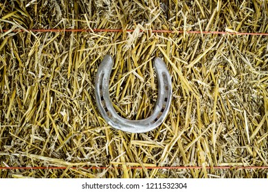 A steel horseshoe welded into the letter U