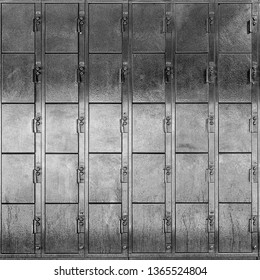 Steel Lockers Background in Black and White