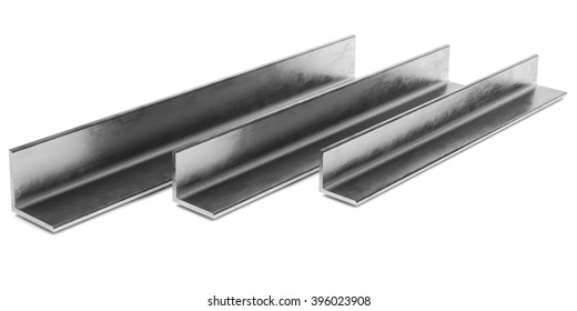 Steel L-Profile. Illustration on white background.