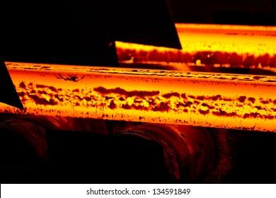 Steel making scenes - Fiery steel