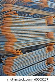 Steel material for concrete strengthening