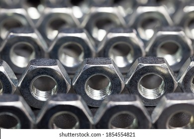 steel metal bolts and other fasteners made of high-quality alloy steel and other elements for high-quality work, closeup metal fasteners