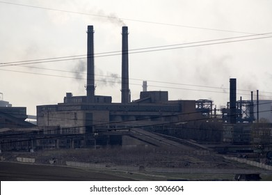 steel mill and blusting furnaces