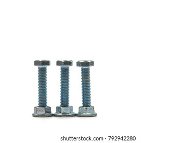 steel nut macro photo ,white background
