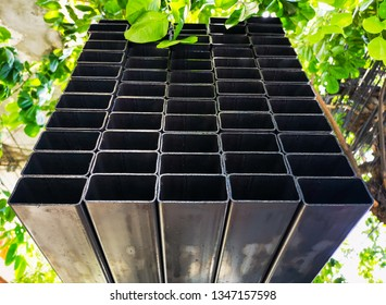 Steel pipe available in construction.