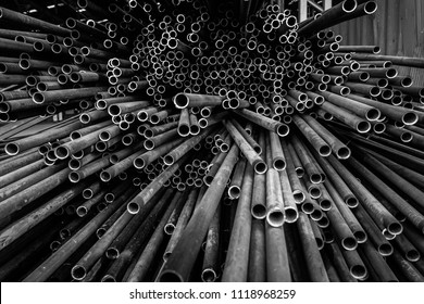 Steel Pipe, Matal Pipe, Pipe for Heat Exchanger, Black and white