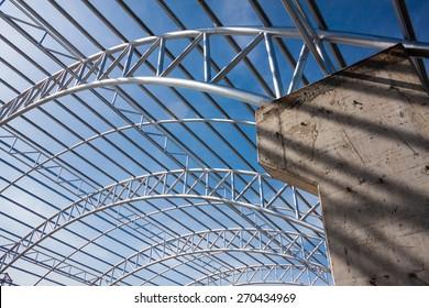 Steel Roof Truss Images Stock Photos Amp Vectors Shutterstock