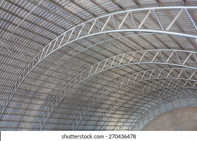 steel pipe truss for metal sheet roofing : structure work