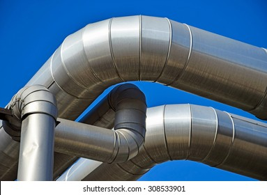 Steel pipeline of the power station