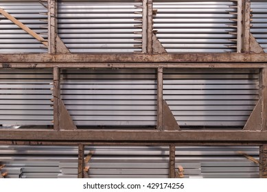 Eaves Board Stacks Stock Photo (Edit Now) 739128199