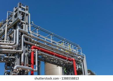 Steel pipes in a factory