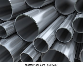 Steel pipes with reflections