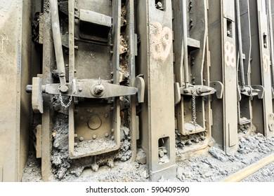 Steel Plant old industrial valves equipment scene