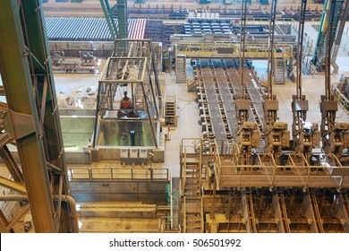 Steel plant, the shop of melting steel
