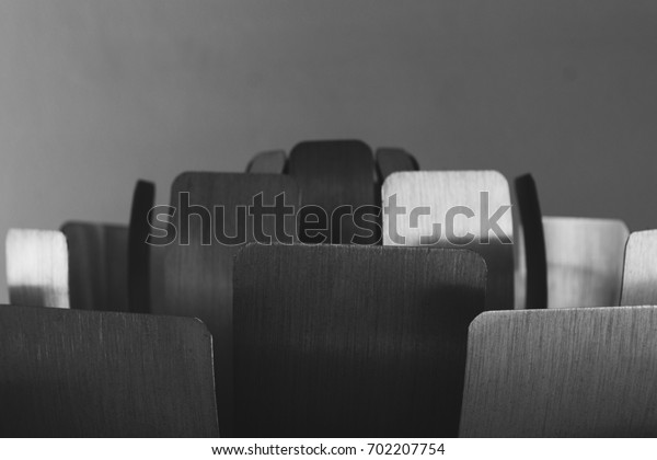 Steel plate in black and white abstract background