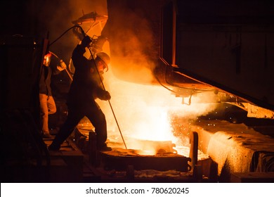 steel production in an electric furnace