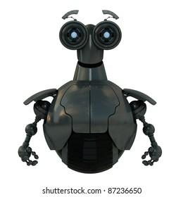 Steel robotic toy