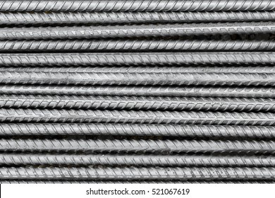 Steel rods bars can used for reinforce concrete, steel texture for background