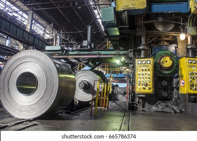 Steel roll at the factory